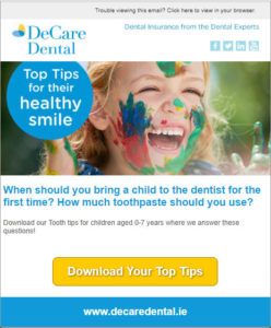 DeCare Dental hidden Sugars email campaign 1