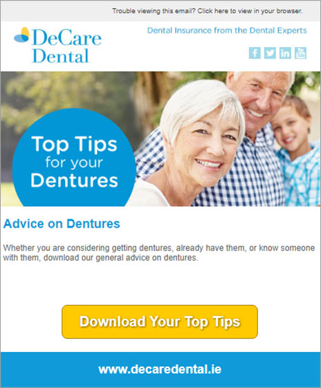 DeCare Dental hidden Sugars email campaign 2