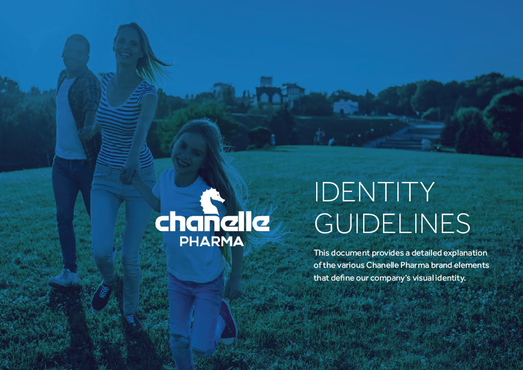 Chanelle Pharma identity guide page 1