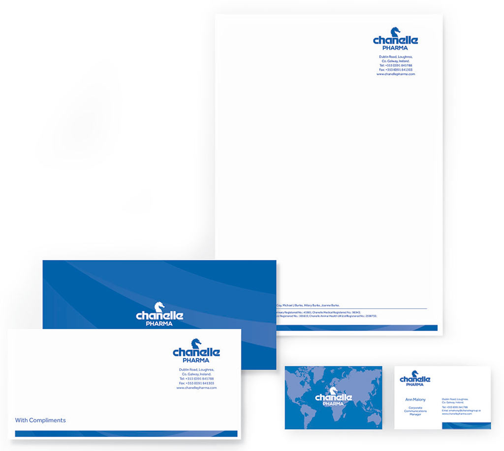 Chanelle Pharma stationery